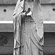 Statue Rosery Mary - Cemetery Sentry Art Print