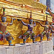 Statues At A Temple, Wat Phra Kaeo Art Print