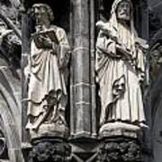 Statues Of The Aachen Cathedral Germany Art Print