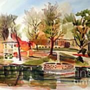 Ste. Marie Du Lac With Gazebo And Pond I Art Print