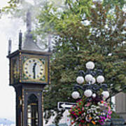 Steam Clock At Gastown In Vancouver Bc Art Print