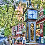 Steam Clock In Vancouver Gastown Art Print