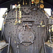 Steam Engine 444 Fire Box And The Controls Art Print