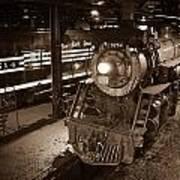 Steam Engine And Engineer Art Print