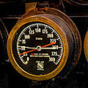 Steam Engine Gauge Art Print