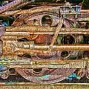 Steam Engine Linkage 2 Art Print