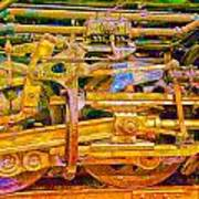 Steam Engine Linkage 3 Art Print
