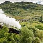Steam Engine On Glenfinnan Viaduct Art Print