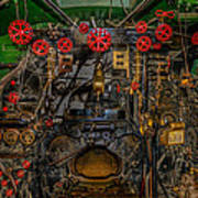 Steam Locamotive Controls Art Print