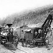 Steam Locomotive And Steam Shovel 1882 Print by Daniel Hagerman