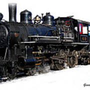 Steam Locomotive Art Print by Gunter Nezhoda