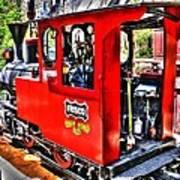 Steam Locomotive Old West V2 Art Print