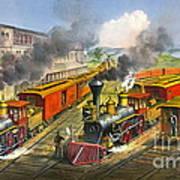 Steam Locomotives 1874 Art Print