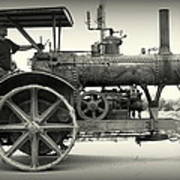 Steam Power Tractor Art Print
