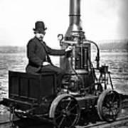 Steam Powered Rail Cart C. 1892 Art Print