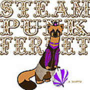 Steam Punk  Ferret 2 Art Print