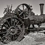 Steam Tractor - Molson Ghost Town Art Print