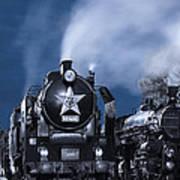 Steam Train In The Night Art Print