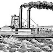 Steamboat, 19th Century Art Print
