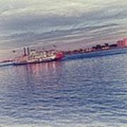 Steamboat Cruise Art Print