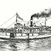 Steamboat Reliance Art Print