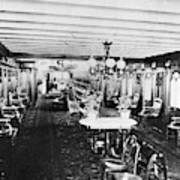 Steamer Interior, C1867 Art Print