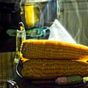 Steaming Corn Art Print