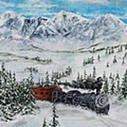 Steaming Thru The Rockies Art Print