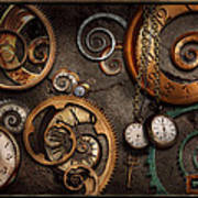 Steampunk - Abstract - Time Is Complicated Art Print by Mike Savad