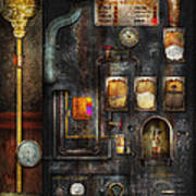 Steampunk - All That For A Cup Of Coffee Art Print