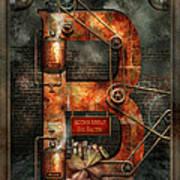 Steampunk - Alphabet - B Is For Belts Art Print