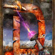 Steampunk - Alphabet - D Is For Death Ray Art Print