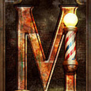 Steampunk - Alphabet - M Is For Mustache Art Print