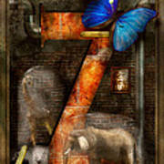 Steampunk - Alphabet - Z Is For Zoology Art Print