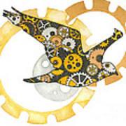 Steampunk Bird Art Print by Nora Blansett