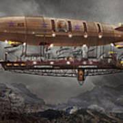 Steampunk - Blimp - Airship Maximus  Art Print