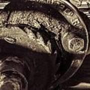 Steampunk Cable Car Brake Art Print