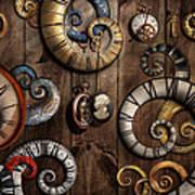 Steampunk - Clock - Time Machine Art Print