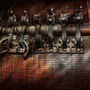 Steampunk - Electrical - Motorized  Print by Mike Savad