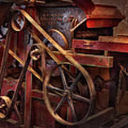 Steampunk - Gear - Belts And Wheels  Art Print by Mike Savad