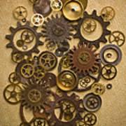 Steampunk Gears Art Print by Diane Diederich