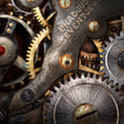 Steampunk - Gears - Horology Print by Mike Savad