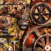 Steampunk - Gears - Inner Workings Art Print by Mike Savad