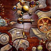 Steampunk - Gears - Reverse Engineering Art Print by Mike Savad
