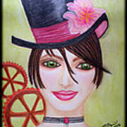 Steampunk Girl Art Print
