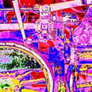 Steampunk Iron Horse #4 A Art Print