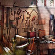 Steampunk - Machinist - The Inventors Workshop  Art Print