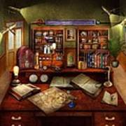 Steampunk - My Busy Study Art Print