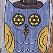 Steampunk Owl Art Print