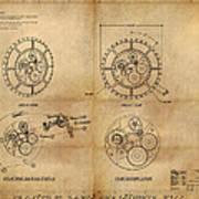 Steampunk Solar Disk Art Print